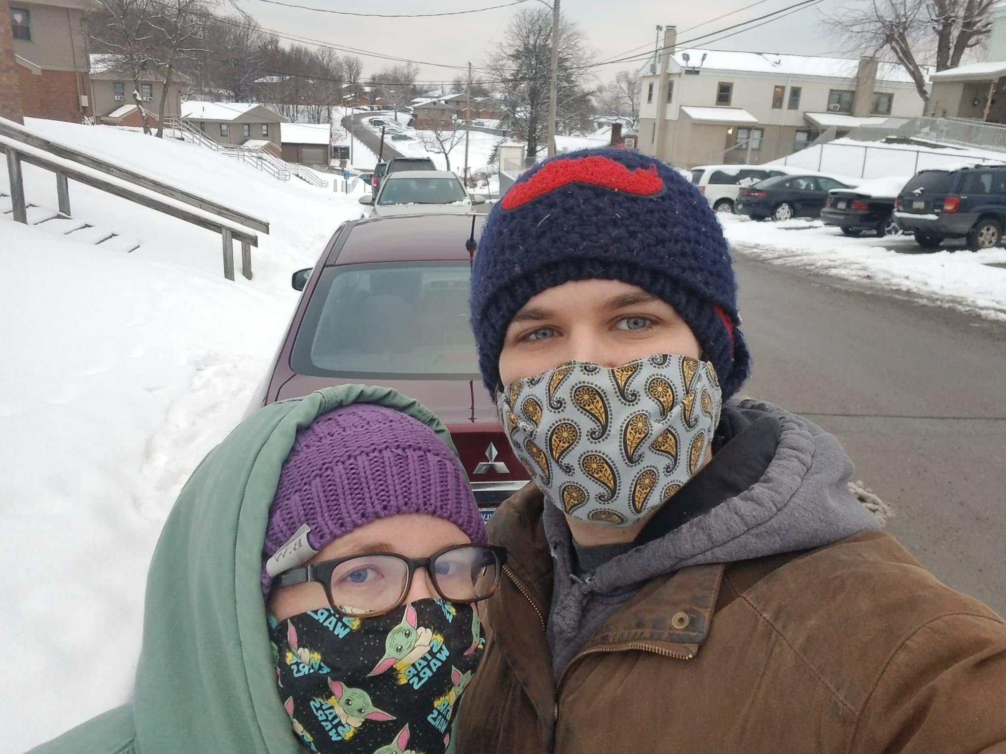 Snowy walk!
